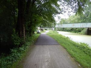 towpath of the ohio and erie canal
